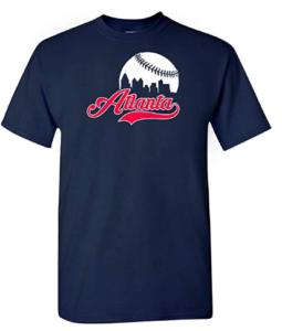 Xtreme Apparrel Atlanta Baseball Skyline